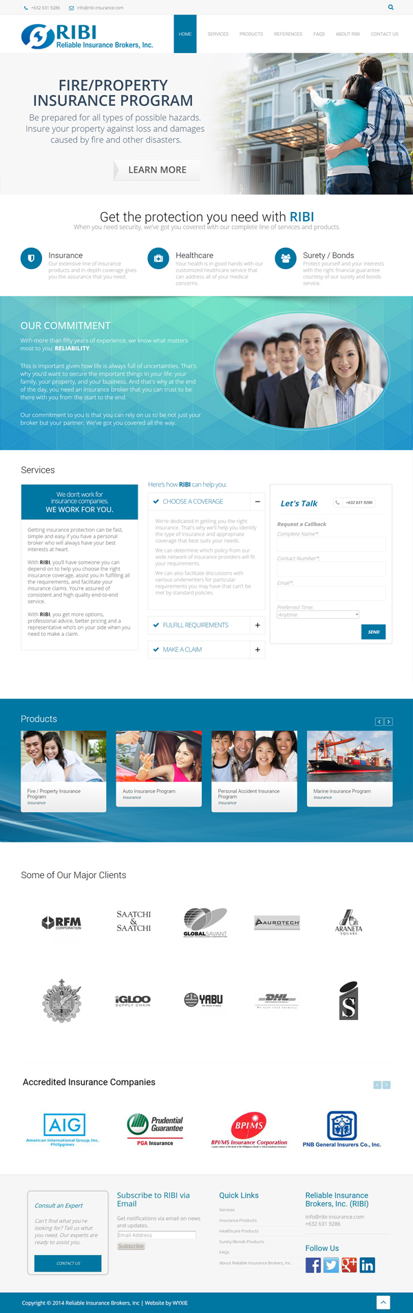 Reliable Insurance Brokers Inc Home Page